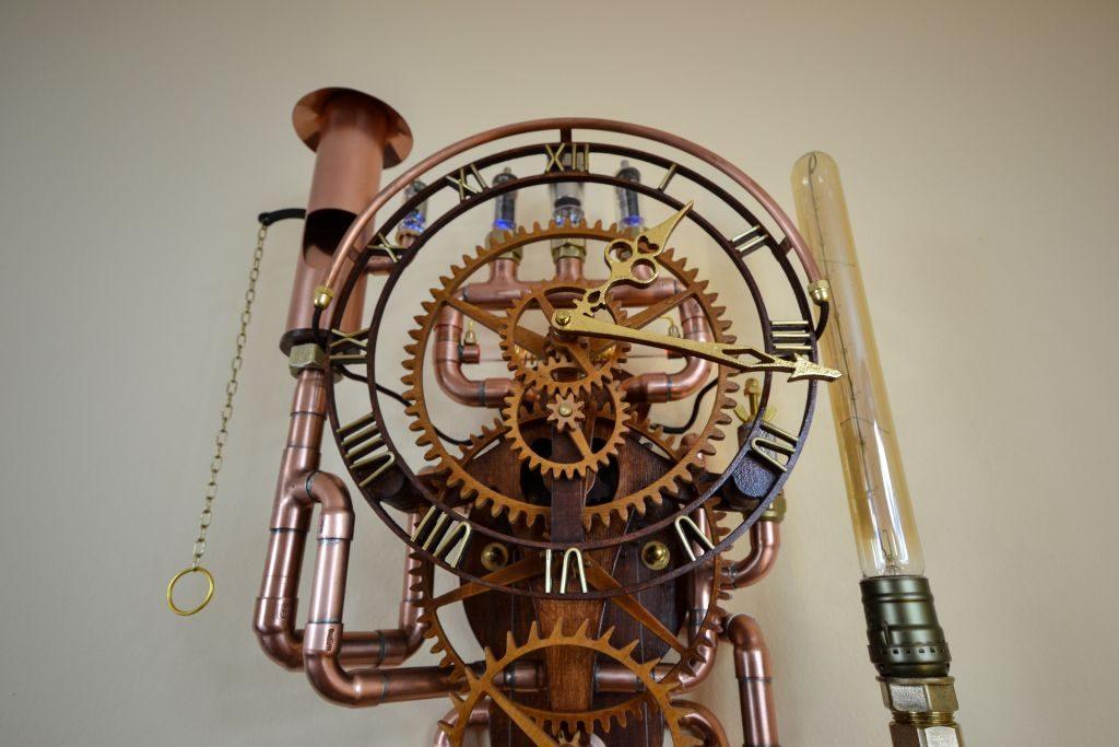 """Steampunk Pendeluhr """"Utopia Horologium"""""""