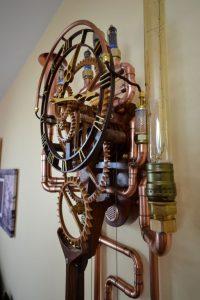 Steampunk Pendeluhr 'Utopia Horologium'